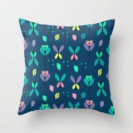 Floral night Throw Pillow