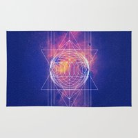 sacred geometry Area & Throw Rugs featuring Sacred Geometry by AC DESIGNS