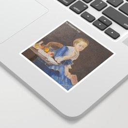 Old woman Sticker