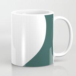 Heart (White & Dark Green) Coffee Mug