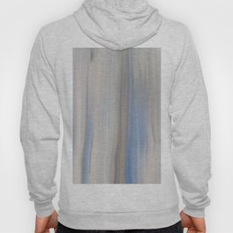 Modern Abstract Blue Lilac Gray Brushstrokes Stripes Hoody