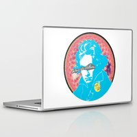 beethoven Laptop & iPad Skins featuring Ludwig van Beethoven 17 by Marko Köppe