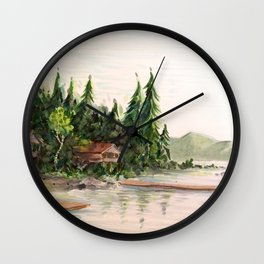 Attean Lake, Maine Wall Clock