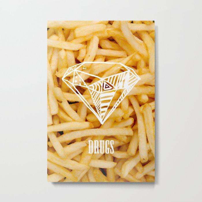 Diamonds & French Fries Metal Print