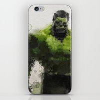 water colour iPhone & iPod Skins featuring Water Colour Hulk by Scofield Designs
