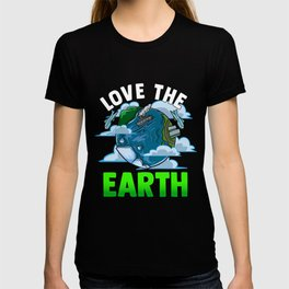 Love The Earth Hipster Cute Hippie Mother Earth T-shirt