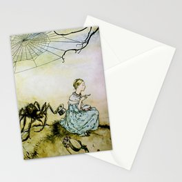 """""""Miss Muffet and Spider"""" by Arthur Rackham Stationery Cards"""