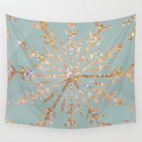 crystal Wall Tapestries featuring Crystal by Françoise Reina