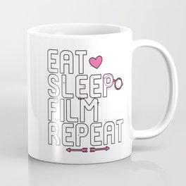 Eat Sleep Film Repeat Filmmaking Coffee Mug