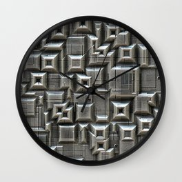Textured Space Tiles Wall Clock