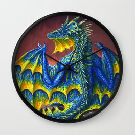 Horned Dragon Wall Clock