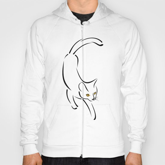 Cat in motion Hoody