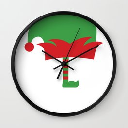 Cute Christmas Elf Squad Wall Clock