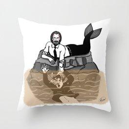 John Wick is Siren Throw Pillow