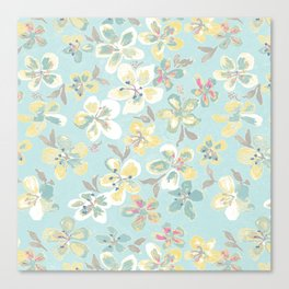flora turq pattern Canvas Print