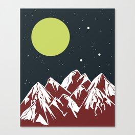 galactic mountains Canvas Print