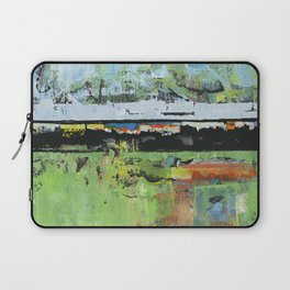 Salvation Green Abstract Contemporary Artwork Painting Laptop Sleeve