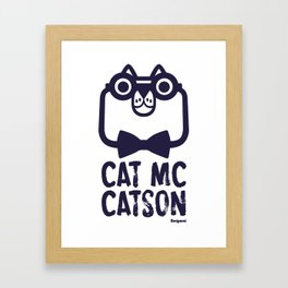 Cat Mc Catson Framed Art Print