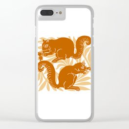 "William De Morgan ""Squirrels"" 2. Clear iPhone Case"