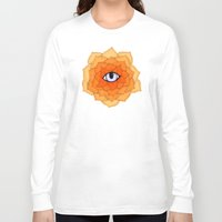 chakra Long Sleeve T-shirts featuring Sacral Chakra by DuckyB