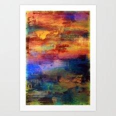 Dusk - Textured Abstract Art Art Print