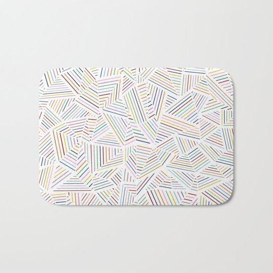 Abstraction Linear Rainbow Bath Mat