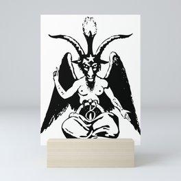 Baphomet-theistic-satanism-church-of-satan-symbol Mini Art Print