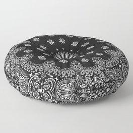 Bandana Black - Traditional Floor Pillow