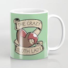 Crazy Sloth Lady Tattoo Coffee Mug