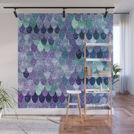 SUMMER MERMAID  Purple & Mint by Monika Strigel Wall Mural