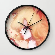 Automne rouge Wall Clock