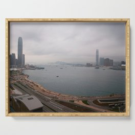 Hong Kong Skyline #decor #society6 #buyart Serving Tray