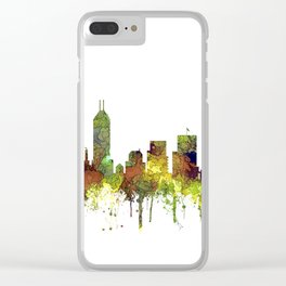 Indianapolis, Indiana Skyline SG - Safari Buff Clear iPhone Case