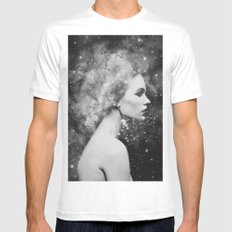 Head in the stars Mens Fitted Tee LARGE White