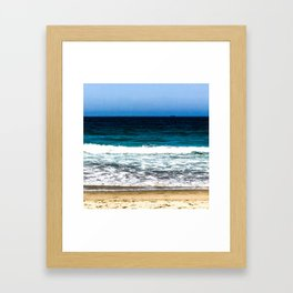"""Layers"" Sand Beach Waves Ocean Sky Framed Art Print"