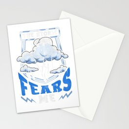 The Storm Fears Me Funny Severe Weather Tornado Stationery Cards