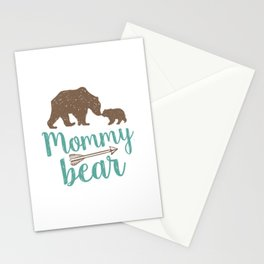 Mommy Bear Mothers Day Mom Gift Stationery Cards