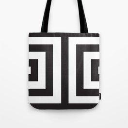 Black Greek Stripes Tote Bag