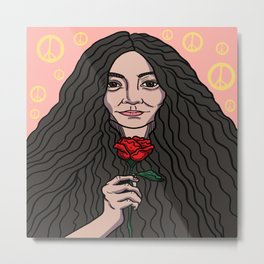 Yoko Ono Metal Print
