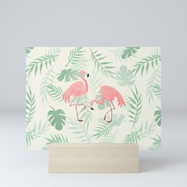 Flamingo Love Tropical Mini Art Print