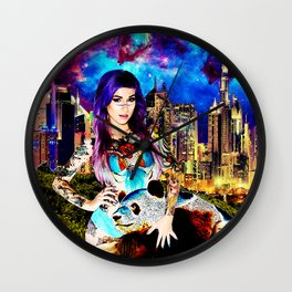 Lisa Frank Beyond Thunderdome Wall Clock