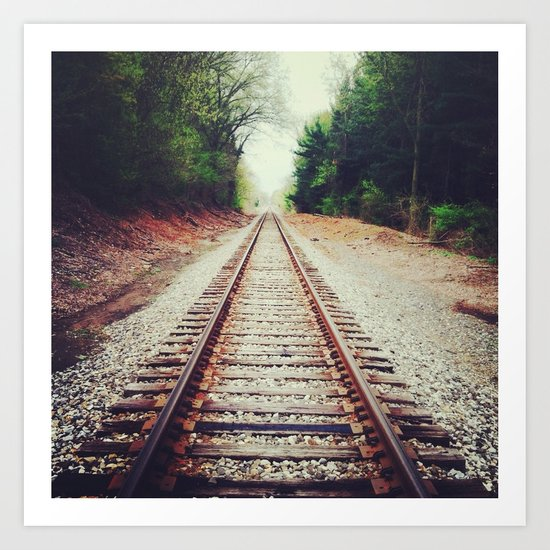 tracks for one Art Print