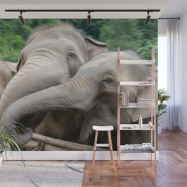 Elephants Art One Wall Mural