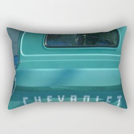 Green Chevy Truck Rectangular Pillow