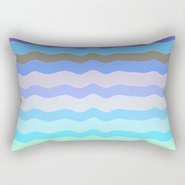 Bright Blue Bars Rectangular Pillow