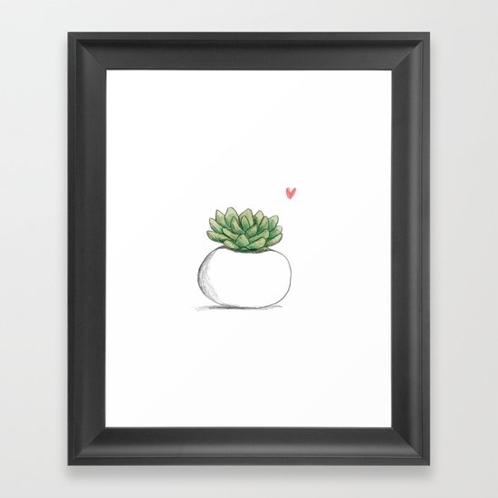 Succulent in Plump White Planter by sophiecorrigan