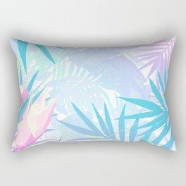 Pastel Rainbow Tropical Paradise Design Rectangular Pillow