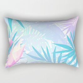 Pastel Rainbow Tropical Paradise Design Rectangular Pillow
