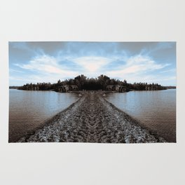 Art Print 1 Lake Superior Mirror 2 [Jordan E. Eismont, Cecilia Lee] Rug