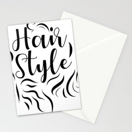 Hair Style Stationery Cards